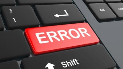 Computer Error Key