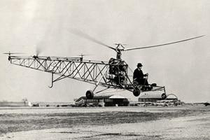 Igor Sikorsky lifts the VS-300