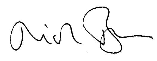 Nick Brown's Signature