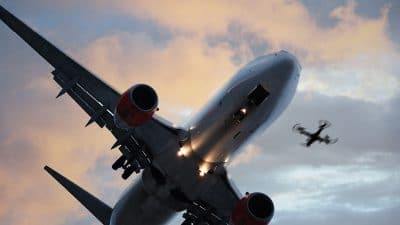 Airplane and drone