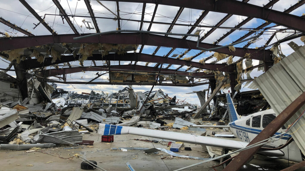 aircraft hangar damage
