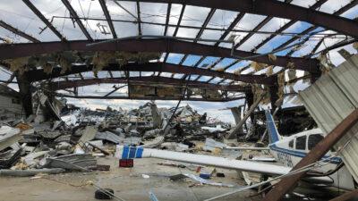 aircraft hangar damage