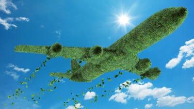 green aircraft