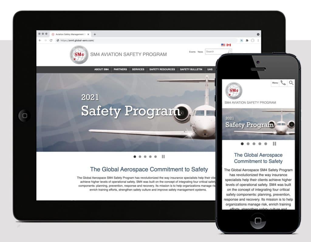 Screen shot of new SM4 Website